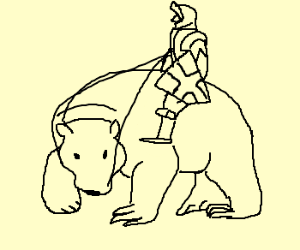 Bear Cavalry coloring #13, Download drawings