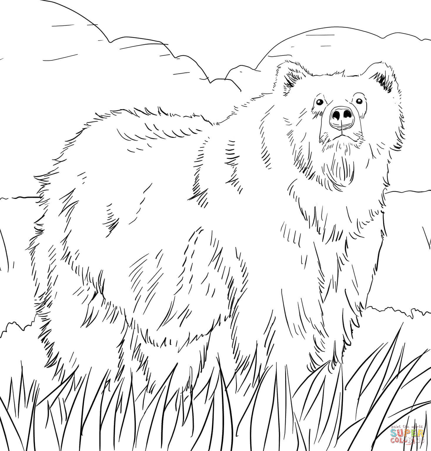 Bear coloring #10, Download drawings