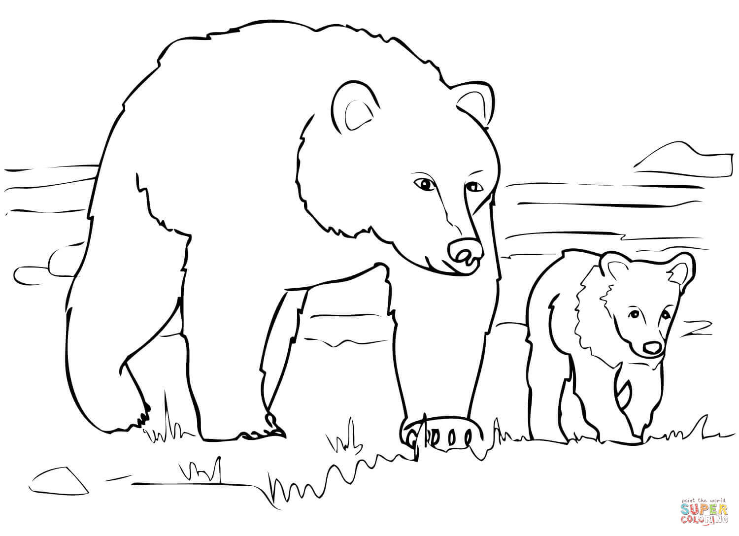 Bear coloring #11, Download drawings