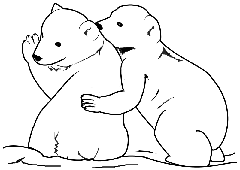 Bear cub coloring download bear cub coloring for Cubs coloring pages