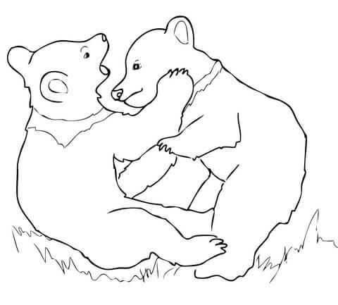 Bear Cub coloring #7, Download drawings