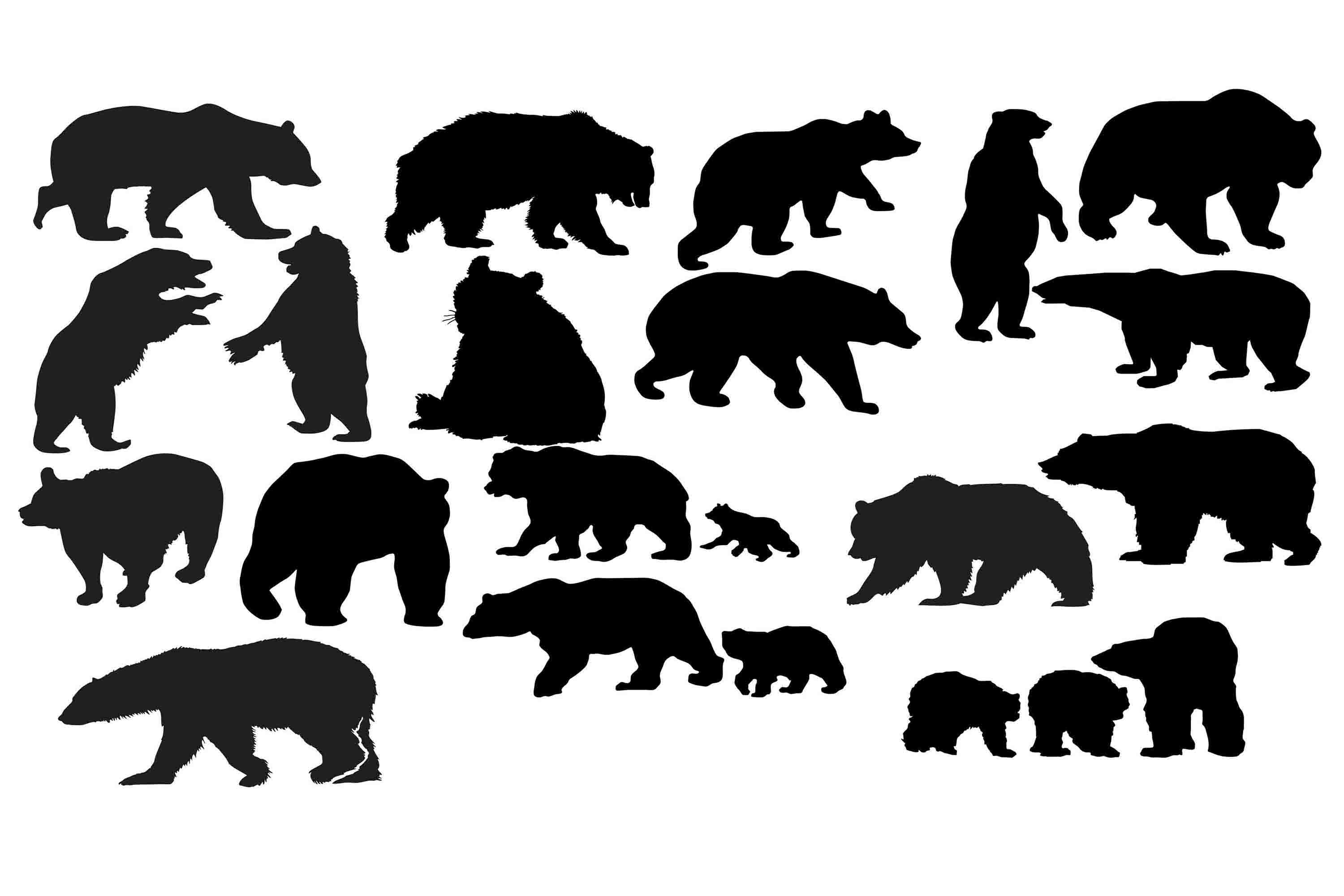 bear silhouette svg #522, Download drawings