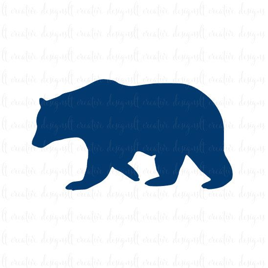 bear silhouette svg #530, Download drawings