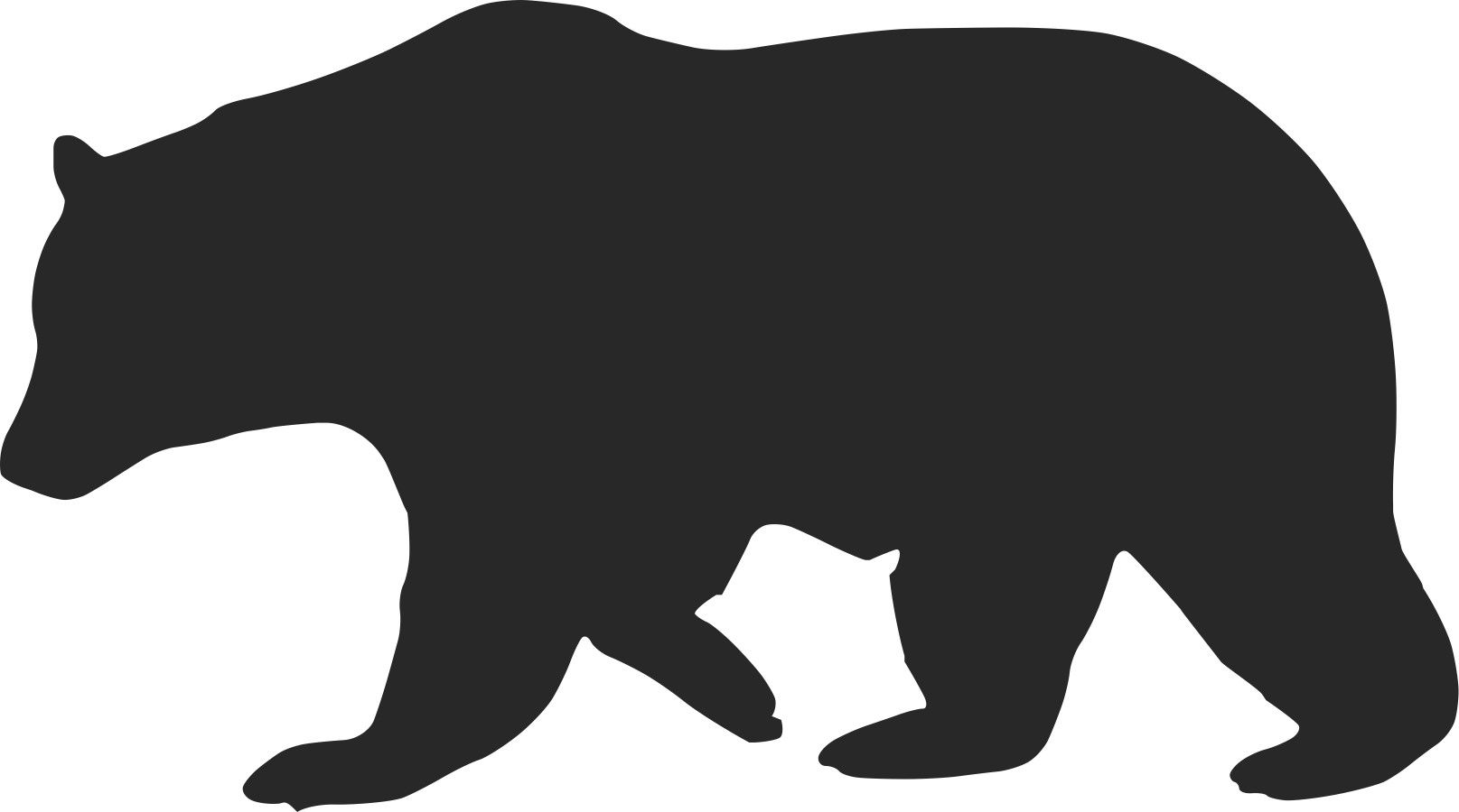 bear silhouette svg #526, Download drawings