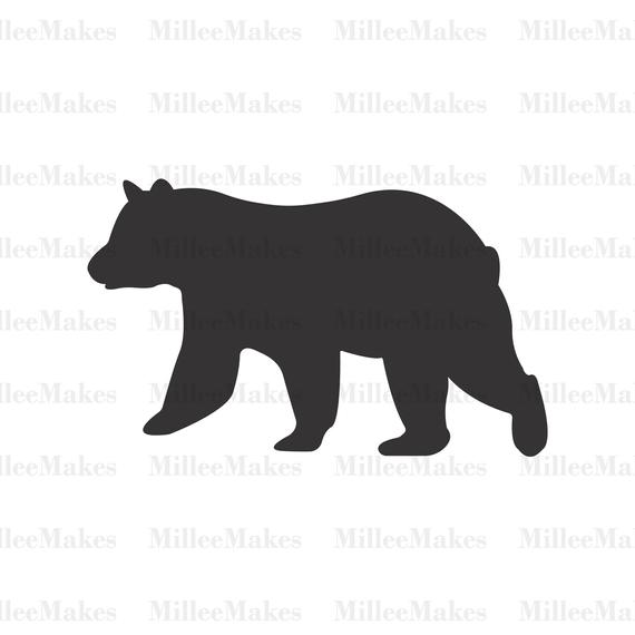 bear silhouette svg #529, Download drawings