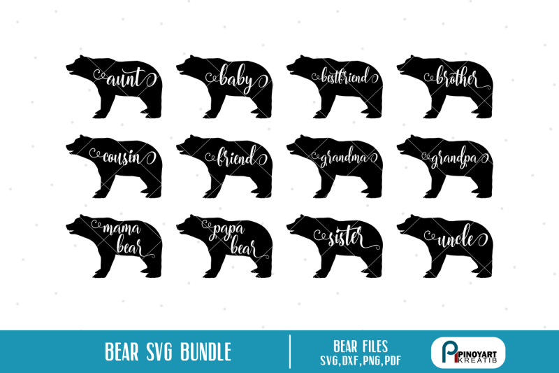 bear silhouette svg #523, Download drawings