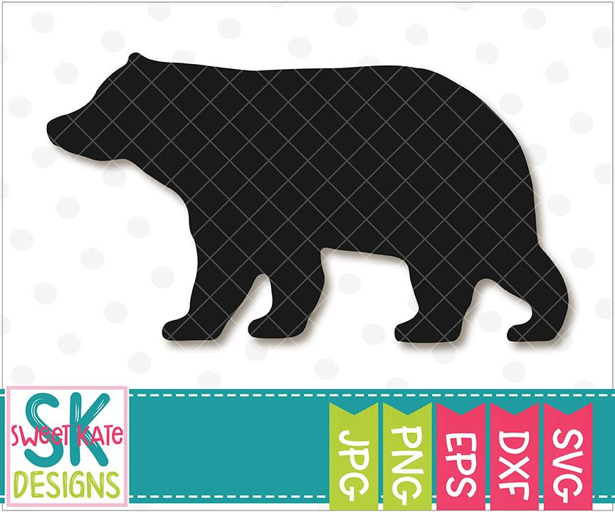 bear silhouette svg #528, Download drawings