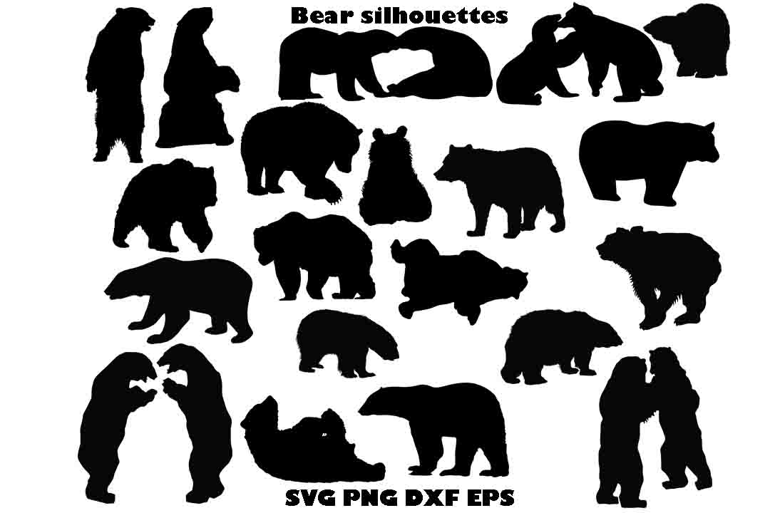 bear silhouette svg #524, Download drawings