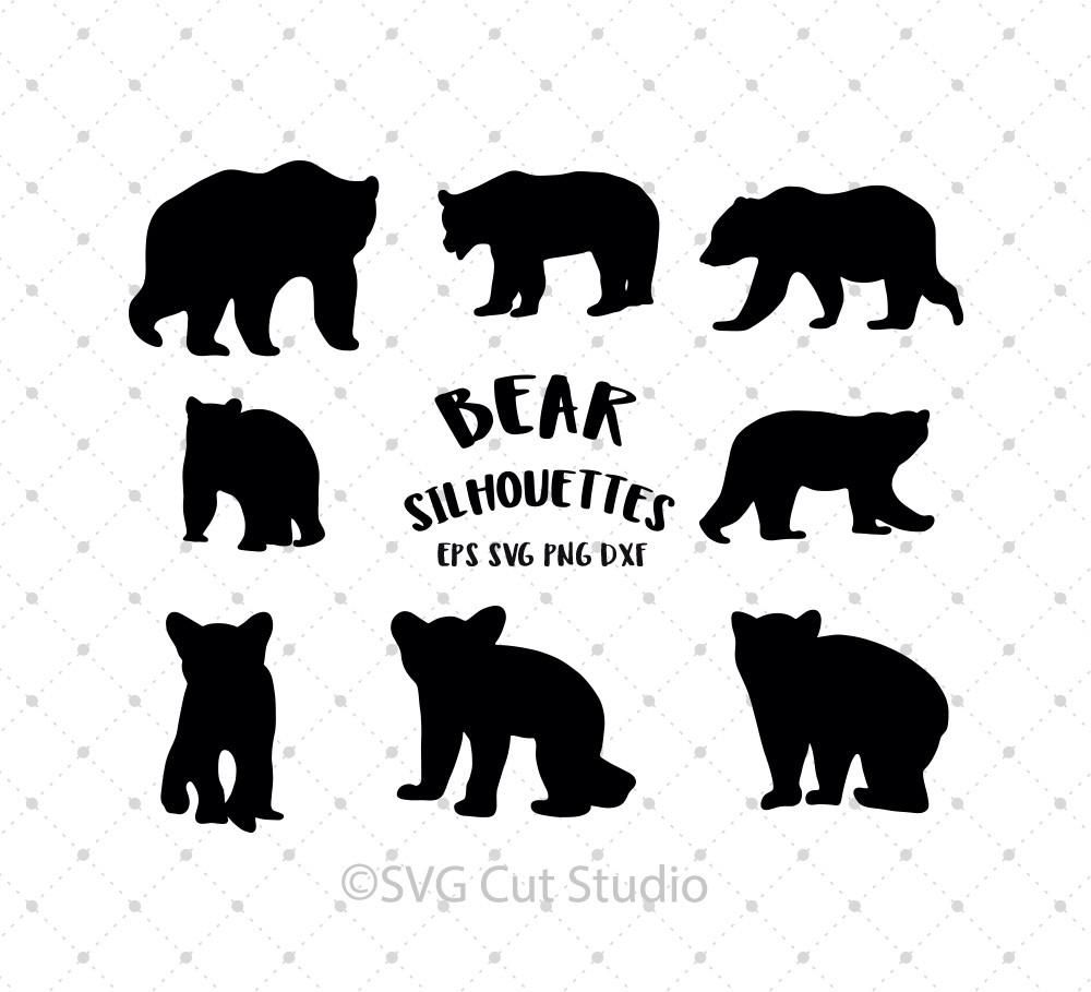 bear silhouette svg #532, Download drawings