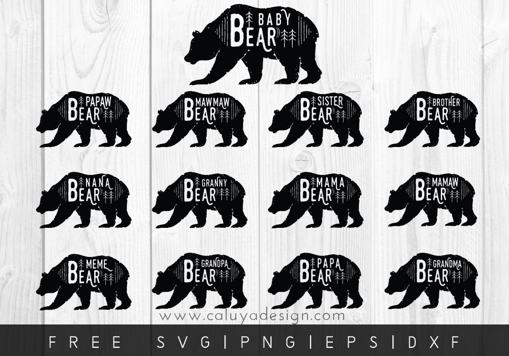 bear svg free #362, Download drawings