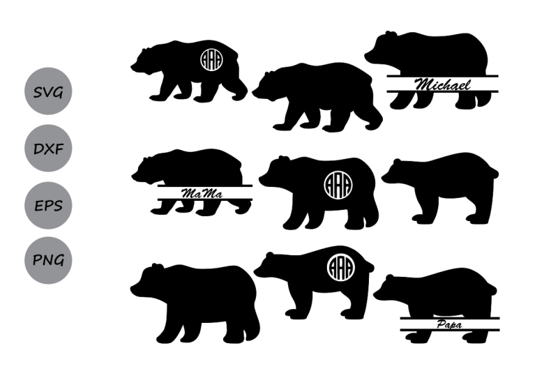 bear svg free #358, Download drawings