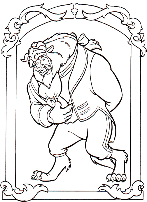 Beast coloring #7, Download drawings