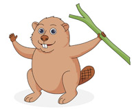 Beaver clipart #11, Download drawings