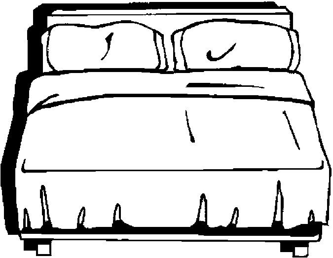 coloring pages of beds - photo#9