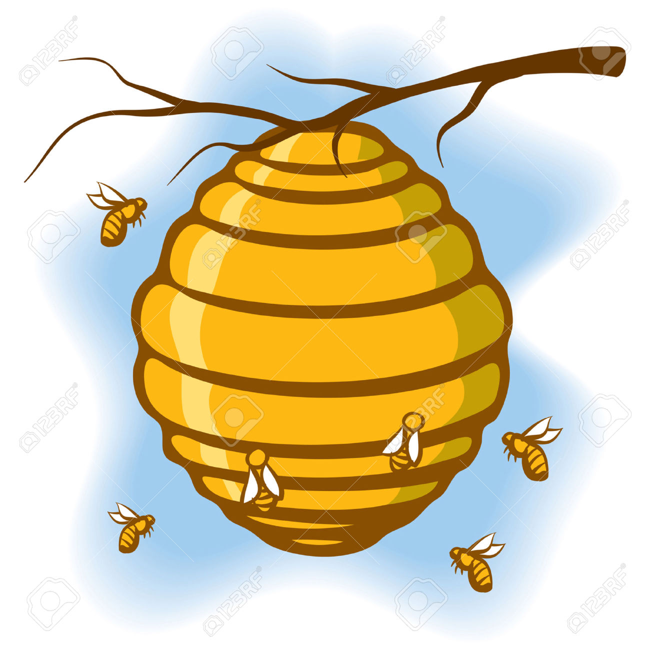 Bee Hive clipart #5, Download drawings