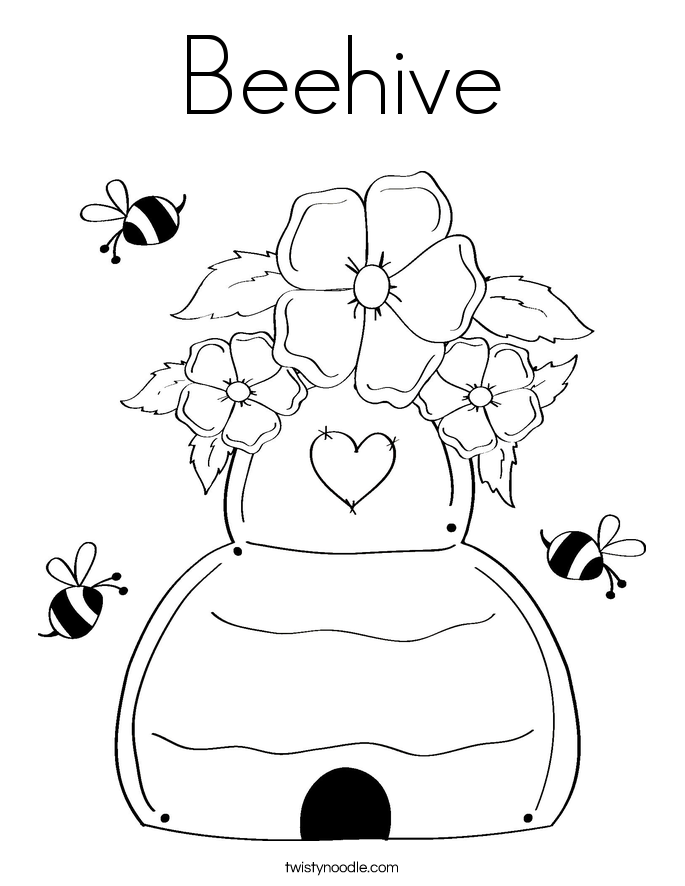 Bee Hive coloring #5, Download drawings