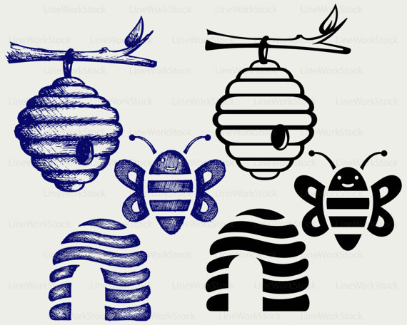 Bee Hive svg #1, Download drawings
