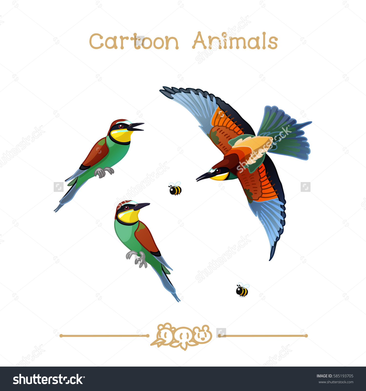 Bee-eater clipart #1, Download drawings