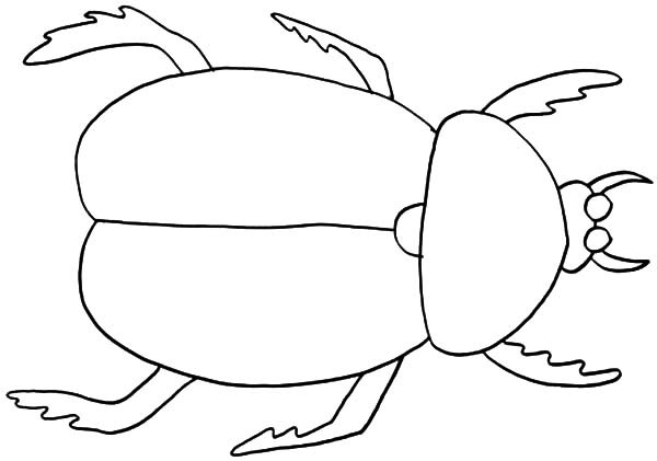 Dung Beetle coloring #3, Download drawings