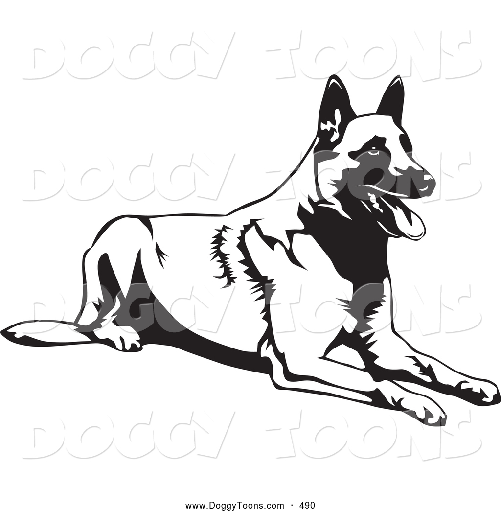 Belgian Malinois clipart #1, Download drawings