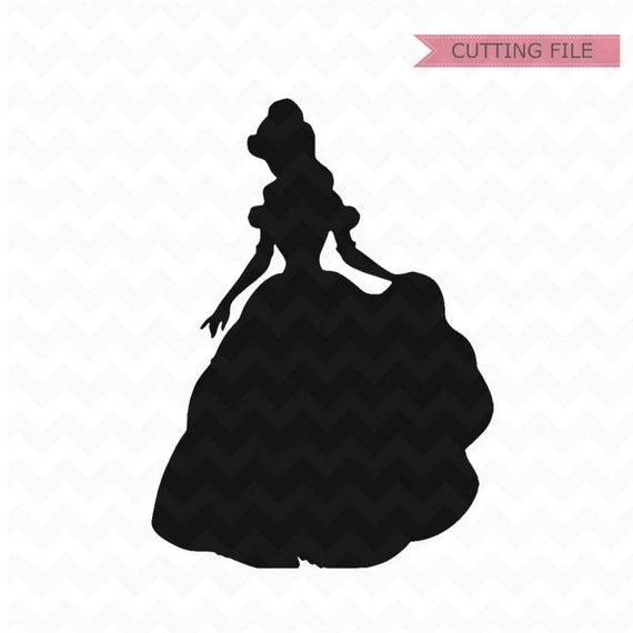 belle silhouette svg #9, Download drawings