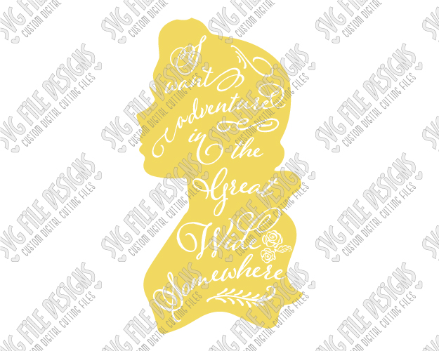 belle silhouette svg #5, Download drawings