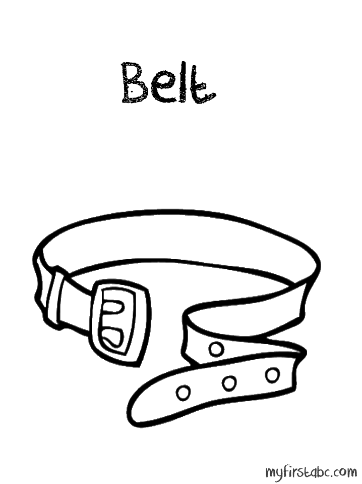 Belt coloring #17, Download drawings