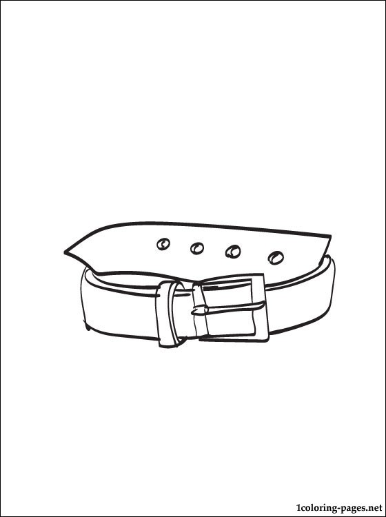 Belt coloring #6, Download drawings