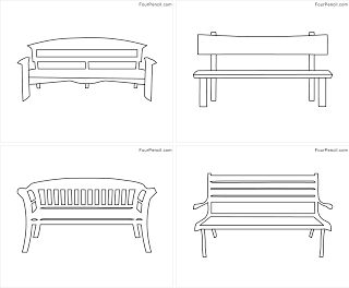 Bench coloring #12, Download drawings