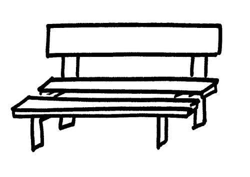 Bench coloring #2, Download drawings