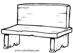 Bench coloring #3, Download drawings