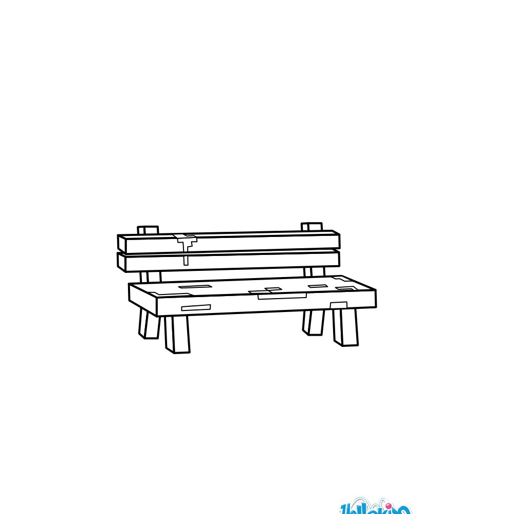 Bench coloring #19, Download drawings