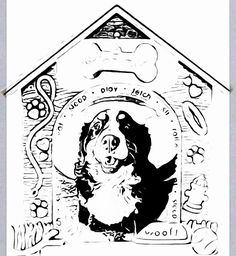 Bernese Mountain Dog coloring #14, Download drawings