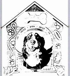 Bernese Mountain Dog coloring #14, Download drawings