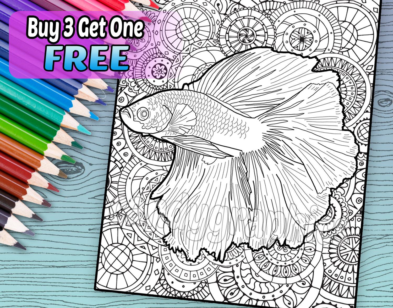 Betta coloring #20, Download drawings