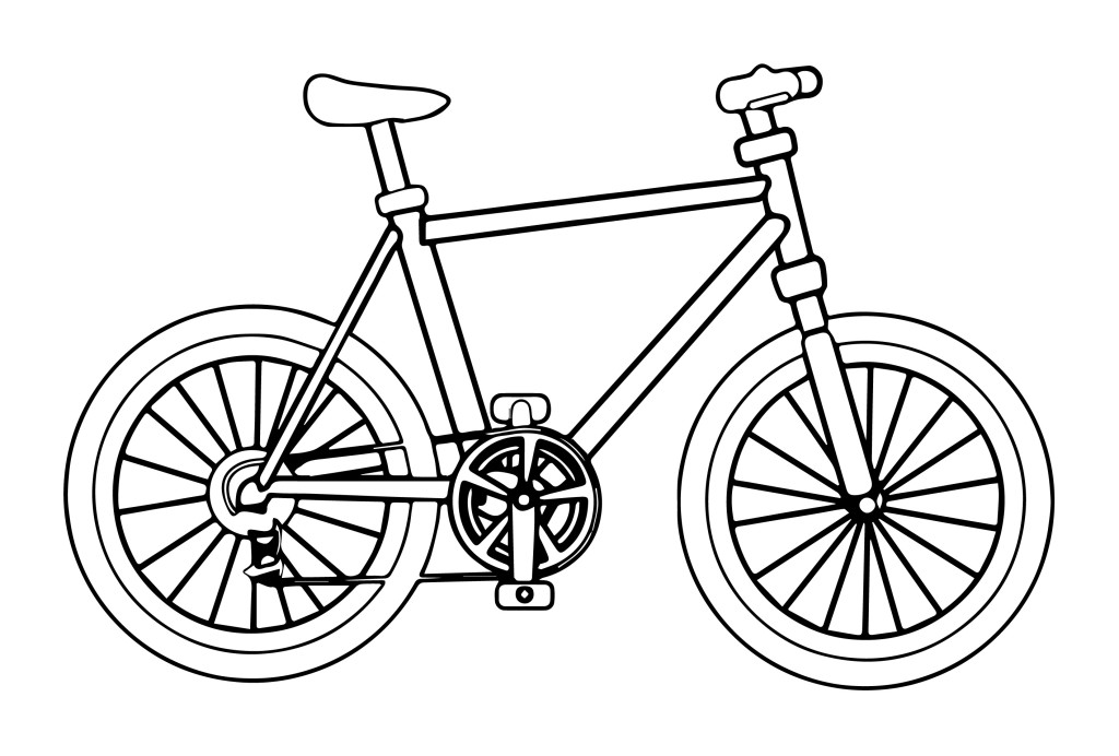 Bicycle coloring #6, Download drawings