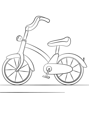 Bicycle coloring #9, Download drawings