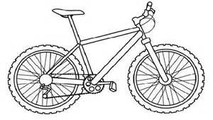 Bicycle coloring #15, Download drawings