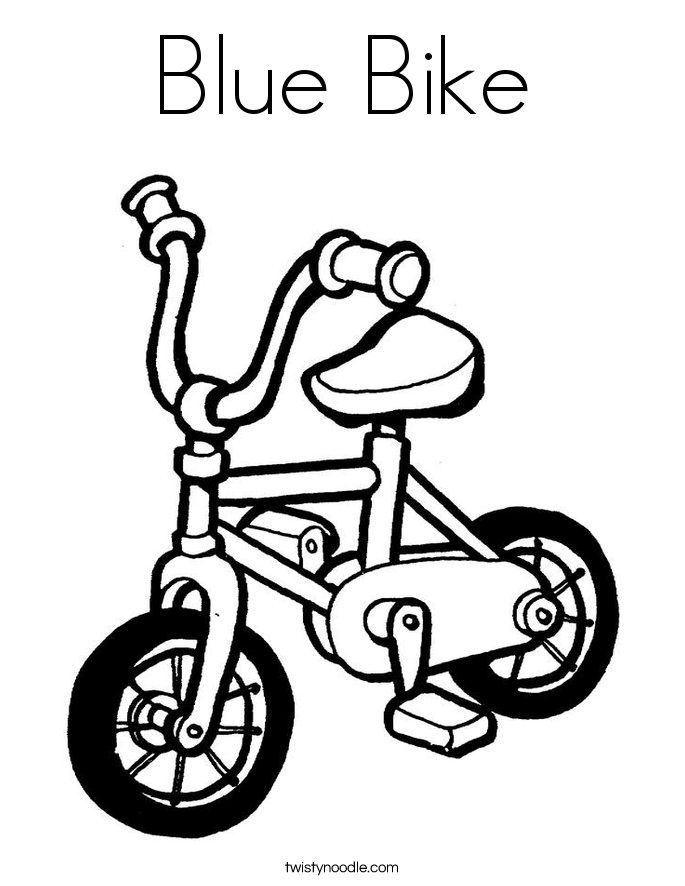 Bicycle coloring #5, Download drawings