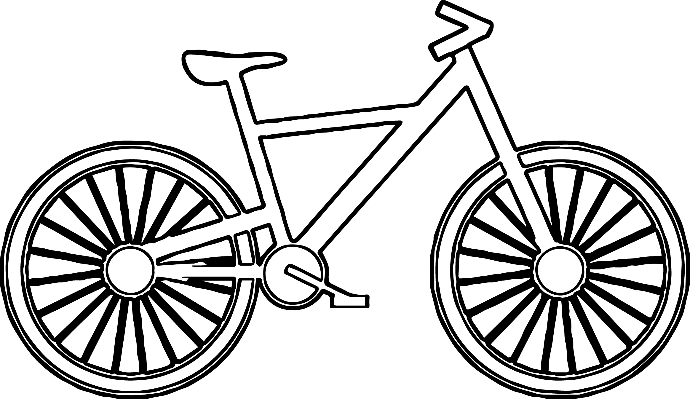 Bicycle coloring #13, Download drawings