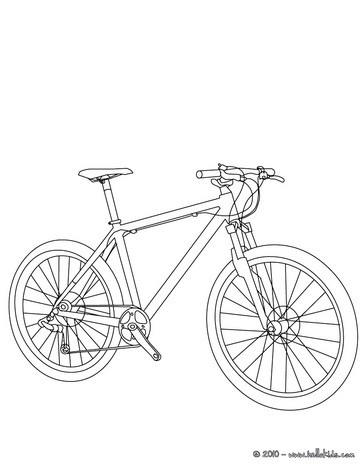 Bicycle coloring #10, Download drawings