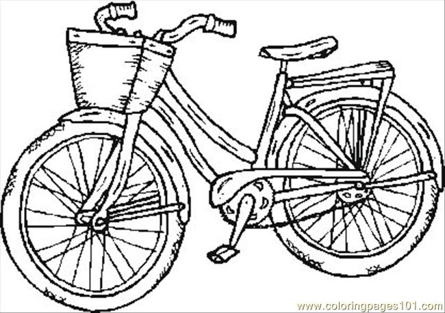 Bicycle coloring #20, Download drawings