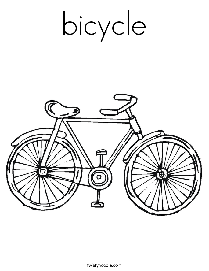 Bicycle coloring #1, Download drawings