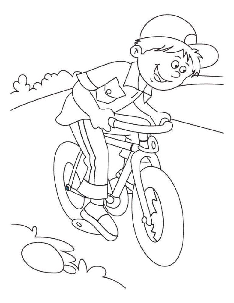 Bicycle coloring #18, Download drawings