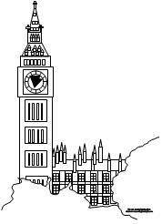 Big Ben coloring #7, Download drawings