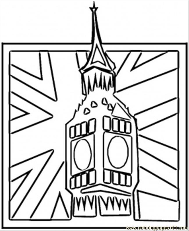 Big Ben coloring #10, Download drawings