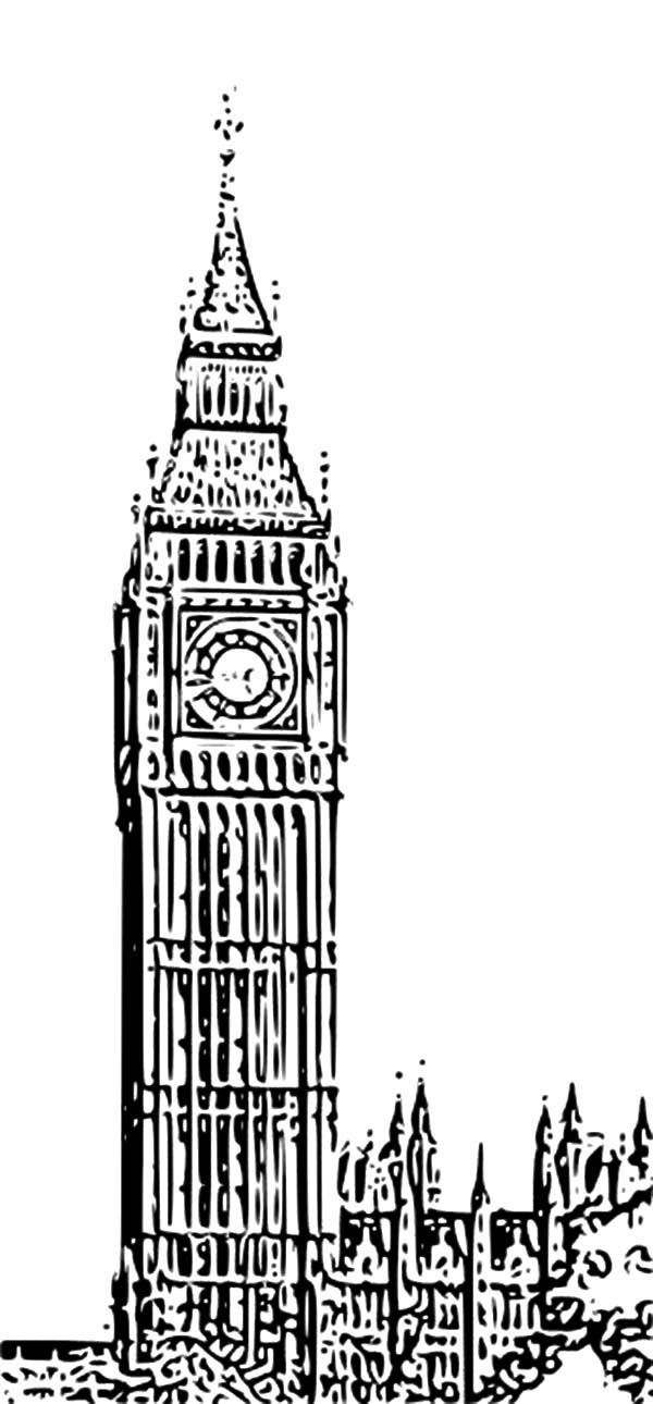 Big Ben coloring #11, Download drawings