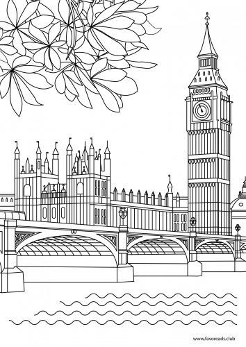 Big Ben coloring #5, Download drawings