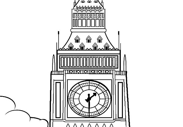 Big Ben coloring #1, Download drawings