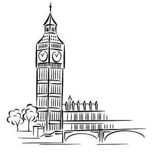 Big Ben coloring #3, Download drawings